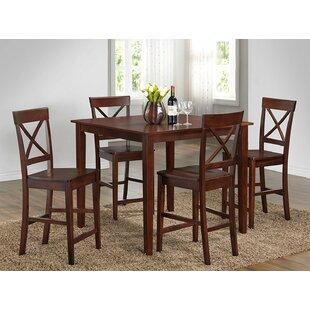 Reviews 5 Piece Pub Table Set ByRoundhill Furniture