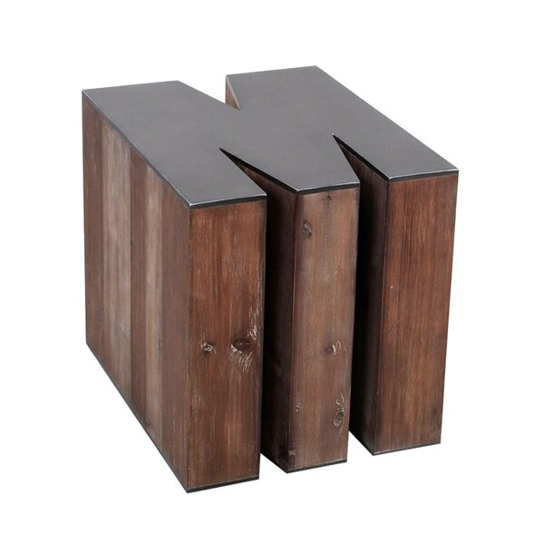 Letter-shaped (M) Wooden Accent Stool by Jeco Inc.