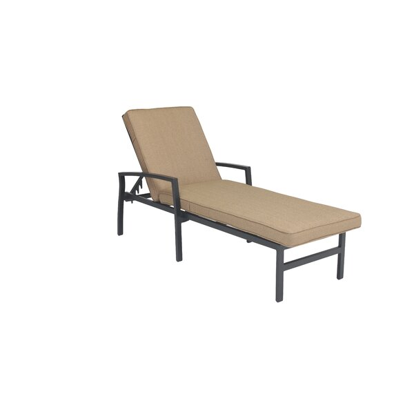 Kyree Reclining Chaise Lounge with Cushion by Darby Home Co Darby Home Co