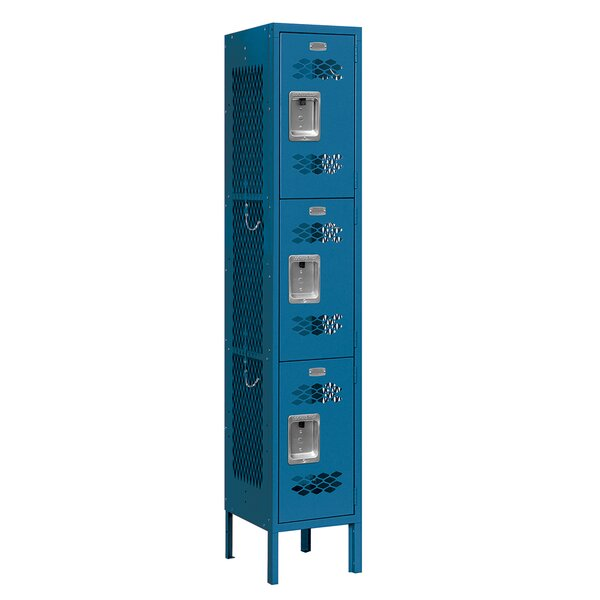 3 Tier 1 Wide School Locker by Salsbury Industries