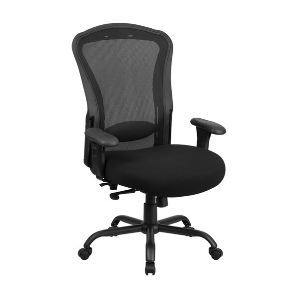 Mesh Multi-Functional Swivel Desk Chair with Synchro-Tilt by Symple Stuff