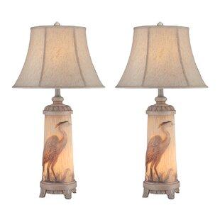 Bargain Jezebel Heron 32 Table Lamp (Set of 2) By Highland Dunes