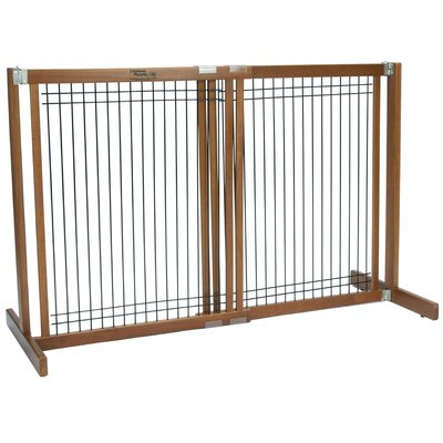 Crown Pet Products Freestanding Wood & Wire Pet Gate & Reviews | Wayfair