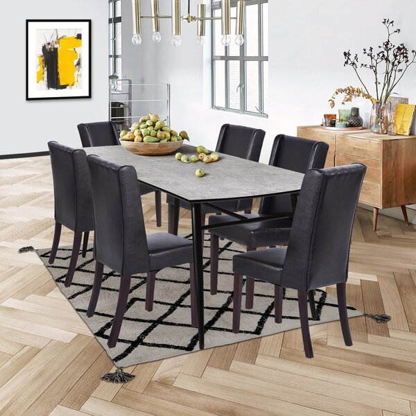 Phung 7 Piece Solid Wood Dining Set by Red Barrel Studio Red Barrel Studio