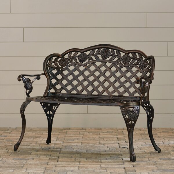 Madama Cast Aluminum Garden Bench by Astoria Grand