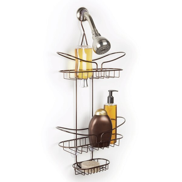Silas Over the Shower 2 Tier Deluxe Shower Caddy with Soap Dish by Rebrilliant