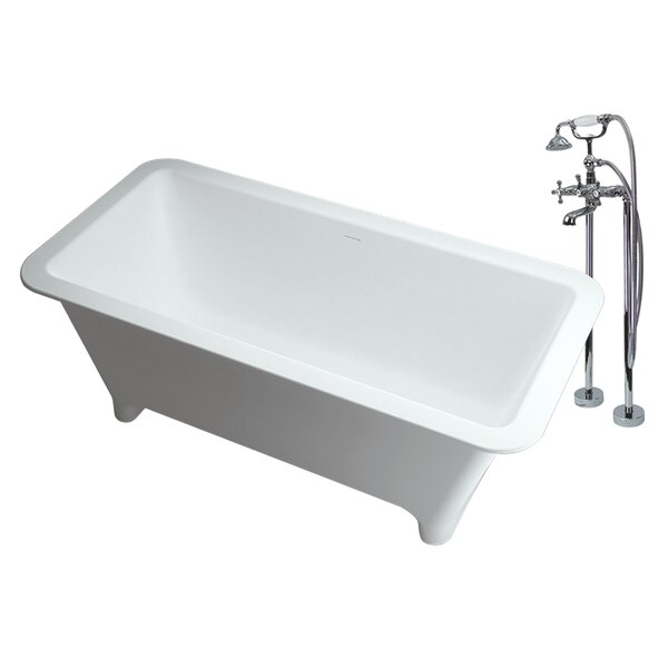 Milan 69 x 29.5 Freestanding Soaking Bathtub by Transolid