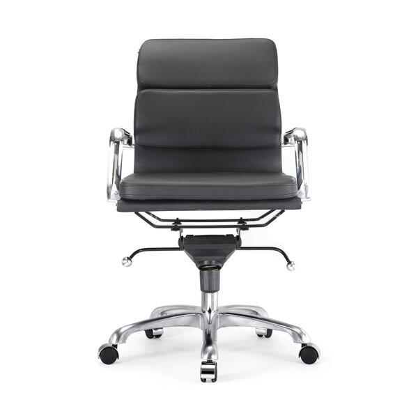 Pollak Padded Modern Classic Aluminum Office Chair by Orren Ellis