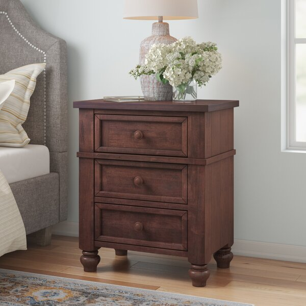 Donalsonville 3 Drawer Night Stand by Three Posts