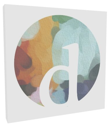 Initial Watercolor Grey Abstract by Karisa Gilmer Canvas Art by Lyla Marie Designs