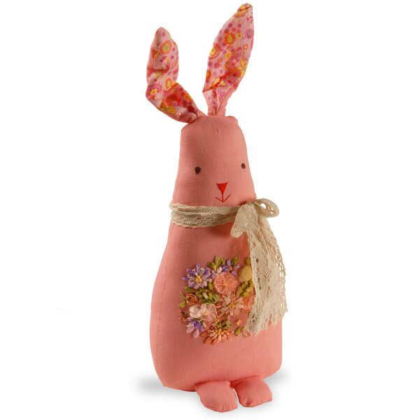 Fabric Rabbit Decoration by National Tree Co.