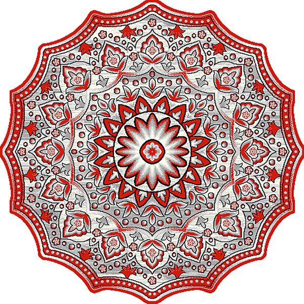 One-of-a-Kind Rath Twist Oriental Red Area Rug by Bloomsbury Market
