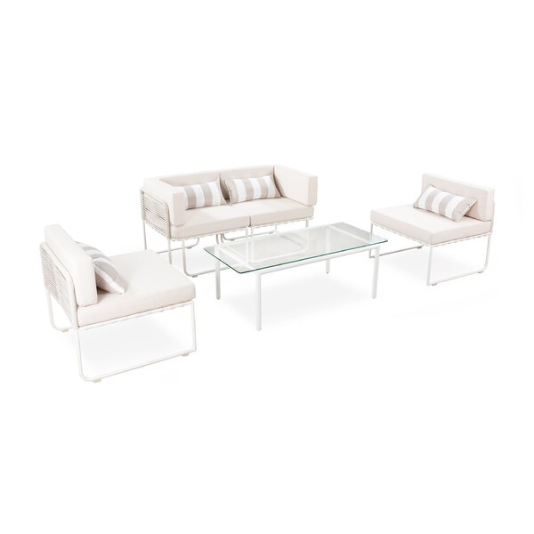 Skelmersdale Outdoor 5 Piece Sectional Seating Group with Cushions by Freeport Park