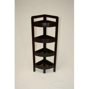 Buy clear 4 Tier Bamboo Corner Unit by eHemco