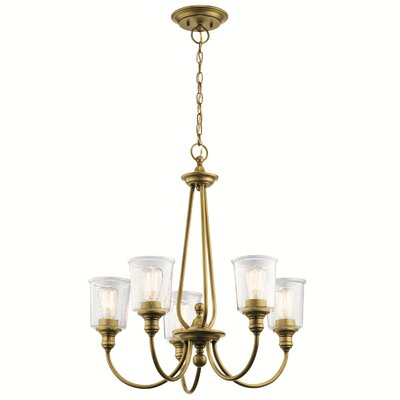 August Grove Pavon 5 Light Candle Style Wagon Wheel Chandelier