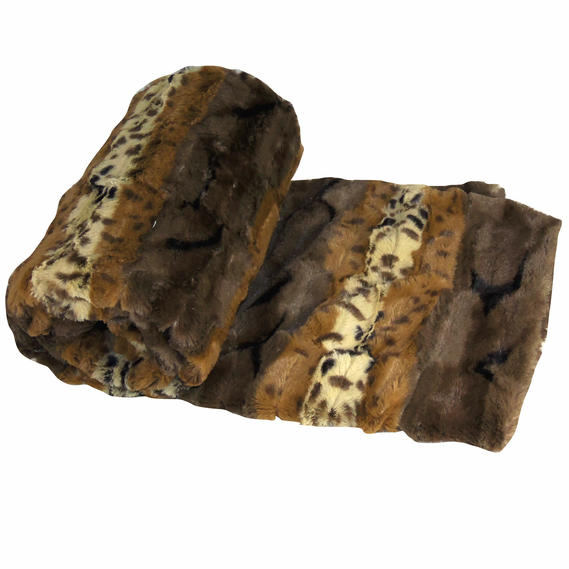 BOON Throw & Blanket Brushed Leopard Double Sided Faux Fur Throw ...