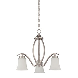Top Reviews Grampian 3-Light Shaded Chandelier By Red Barrel Studio