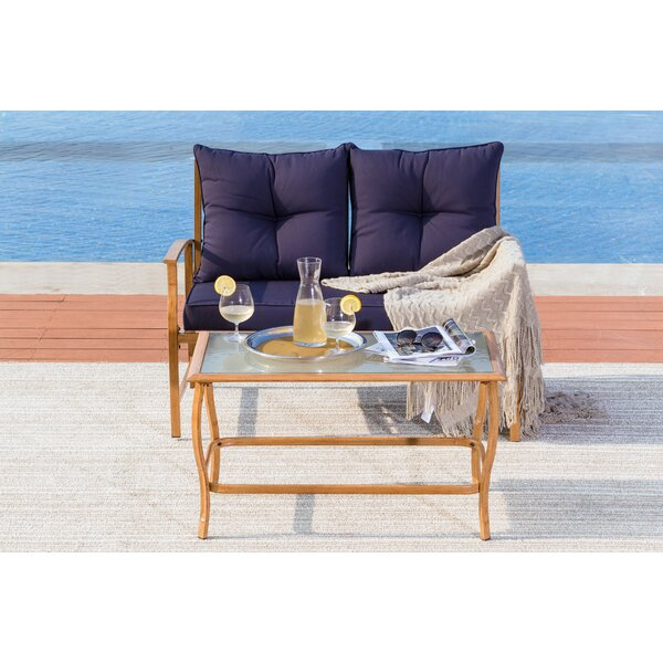 Augie 2 Piece Rattan Sofa Seating Group with Cushions by Longshore Tides