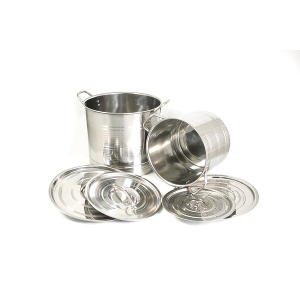 6 Piece Stainless Steel Stock Pot with Lid by Cook Pro