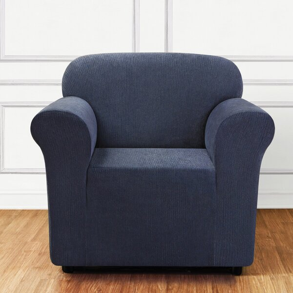 Ultimate Stretch Chenille Box Cushion Armchair Slipcover By Sure Fit