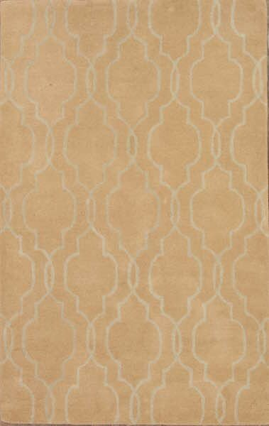 Senna Trellis Oushak Oriental Hand-Tufted Wool Brown/Beige Area Rug by Alcott Hill