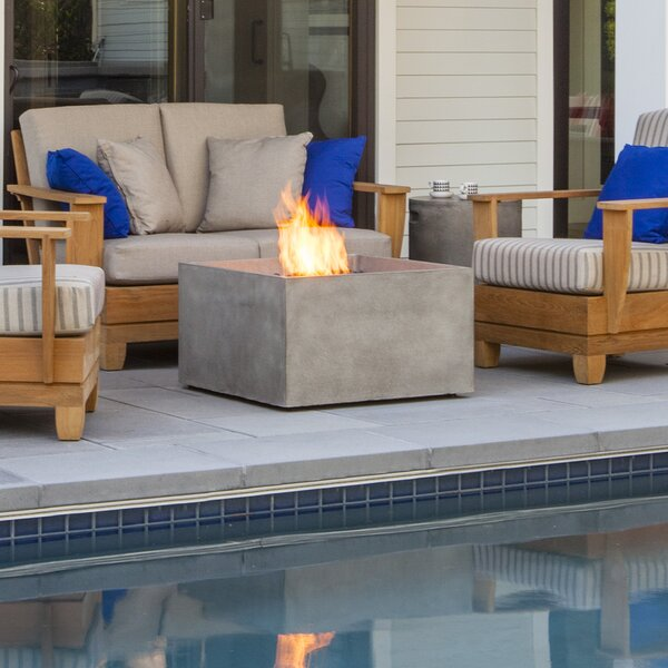 Rise Concrete Gas Fire Pit by Brown Jordan Fires