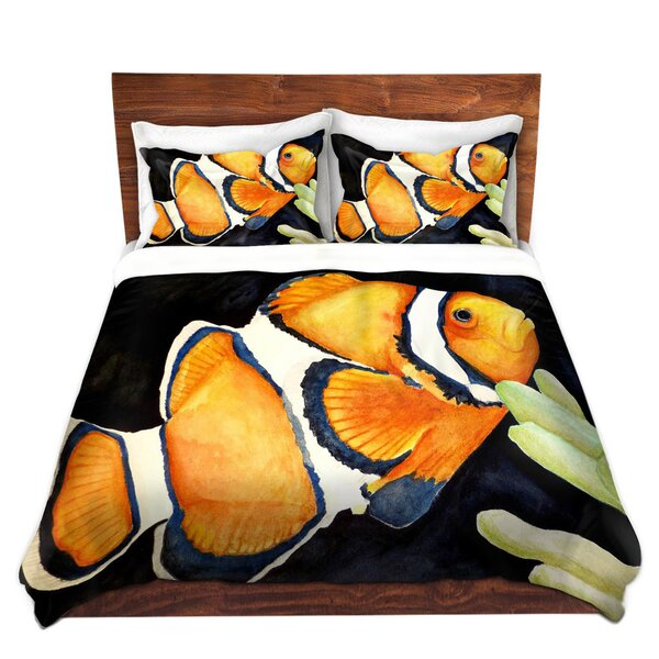Deep Sea Life Clown Fish Duvet Cover Set