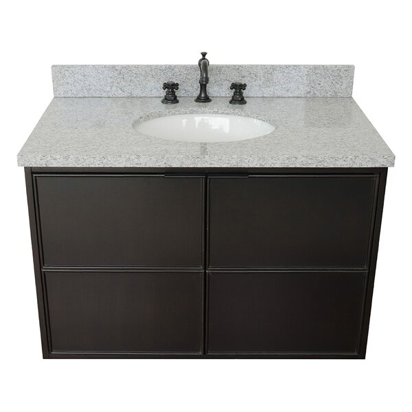 Elkton 37 Wall-Mounted Single Bathroom Vanity Set by Gracie Oaks
