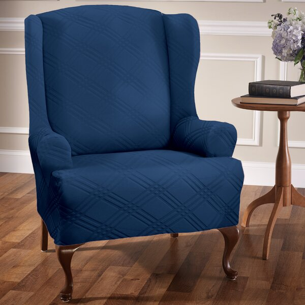Sensations T-Cushion Wingback Slipcover by Red Barrel Studio
