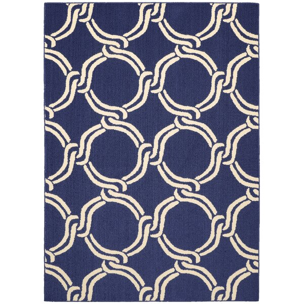 Hand-Tufted Indigo/Ivory Area Rug by Garland Rug