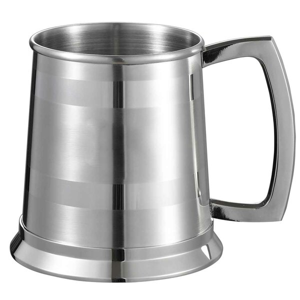 Dual Beer Glass 16 oz. Stainless Steel by Visol Products