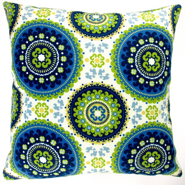 Geometric Circle Modern Indoor/Outdoor Pillow Cover (Set of 2) by Artisan Pillows