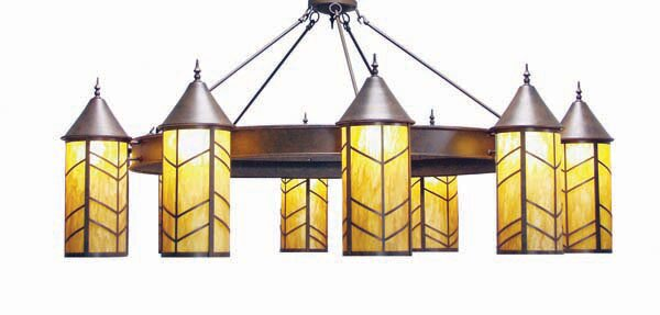 Chevron 10-Light Shaded Chandelier by 2nd Ave Design