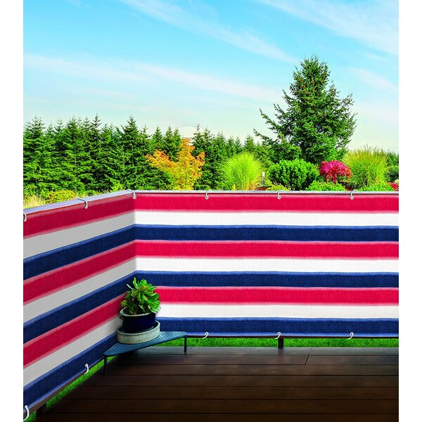 3 ft. H x 15 ft. W Patriotic Balcony Privacy Screen by Imperial Home