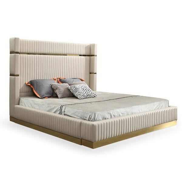 Longmeadow Upholstered Platform Bed by Everly Quinn Everly Quinn