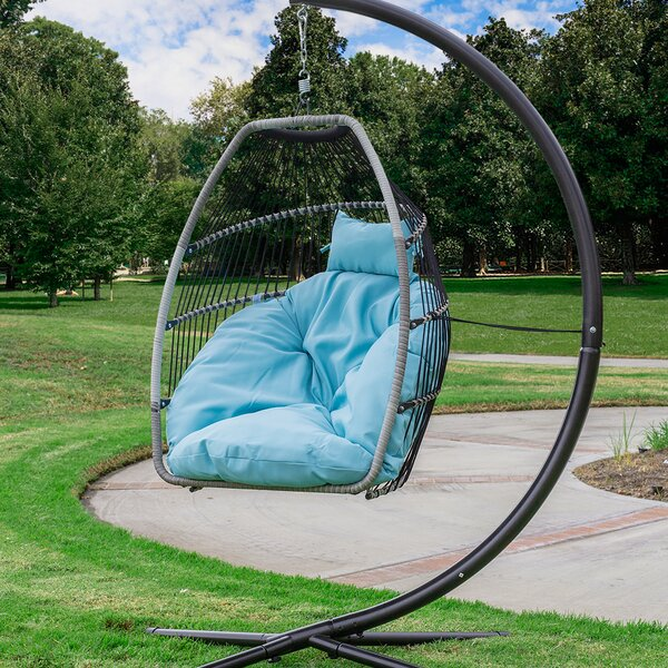 Aviva Outdoor Luxury Wicker Swing Chair by Bungalow Rose