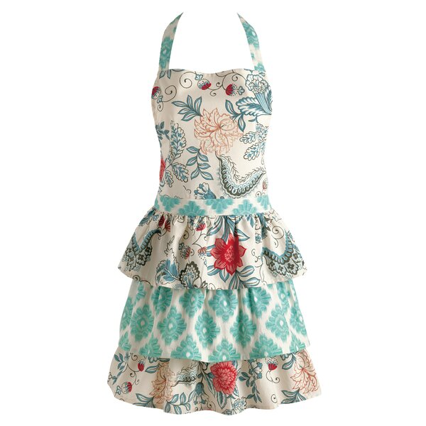 Ikat Flowers Apron by Three Posts