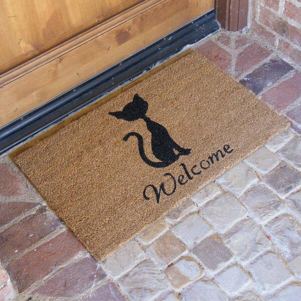 Jefferson Street Meow Cat Welcome Doormat by Red Barrel Studio