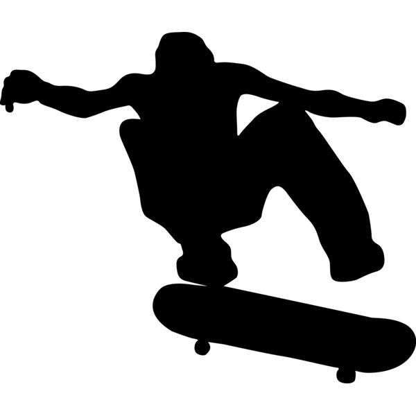 Skateboard Silhouette I Cutout Wall Decal by Wallhogs