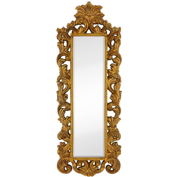 Tall Narrow with Rub Accent Mirror by Majestic Mirror