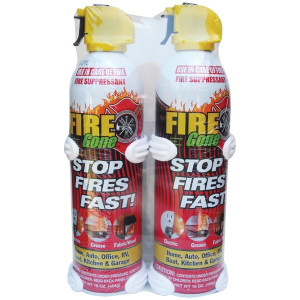 Suppressants With Bracket Fire Extinguisher (Set of 2) by Fire Gone