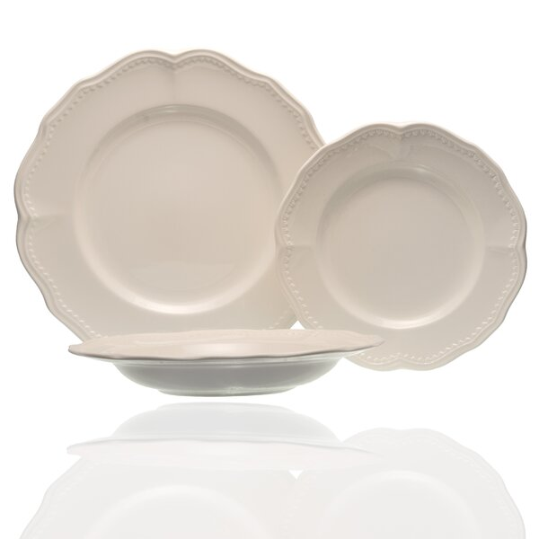Classic White 18 Piece Dinner Set, Service for 6 (Set of 18) by Red Vanilla