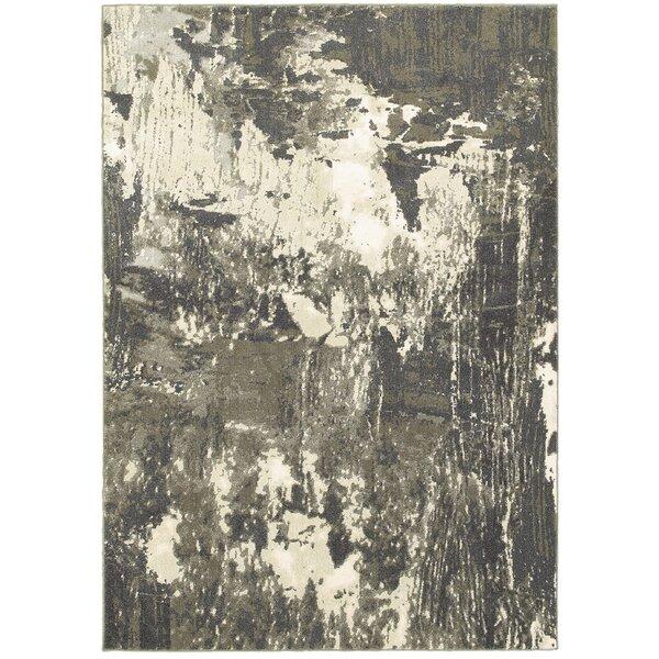 Leonidas Gray/Ivory Area Rug by Wade Logan