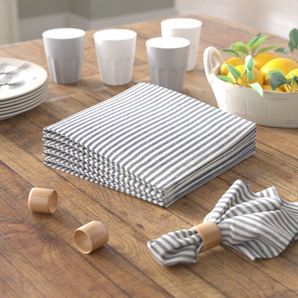 Hummell Stripes Cotton Napkin (Set of 6) by Laurel