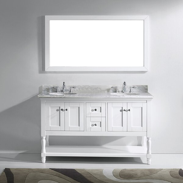 Cicely 59 Double Bathroom Vanity Set with Mirror