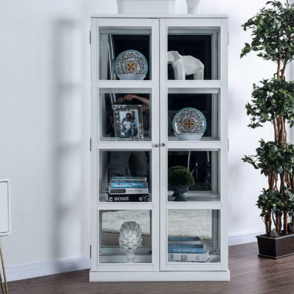 Lechuga Transitional Wooden Curio Cabinet by Charlton Home