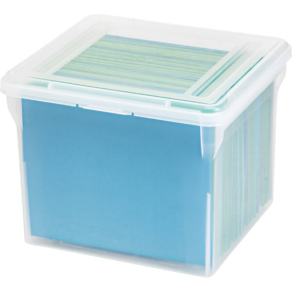 Letter Size File Box (Set of 6) by IRIS USA, Inc.