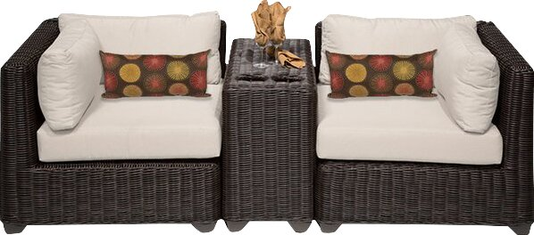 Fairfield 3 Piece Conversation Set with Cushions by Sol 72 Outdoor