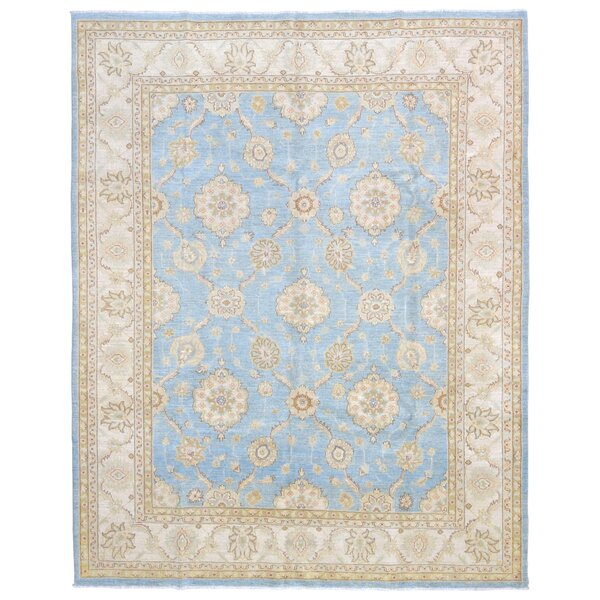 Baron Hand Woven Wool Blue Area Rug by Isabelline