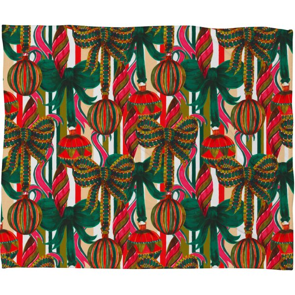 Jade Baubles Plush Fleece Throw Blanket by The Holiday Aisle